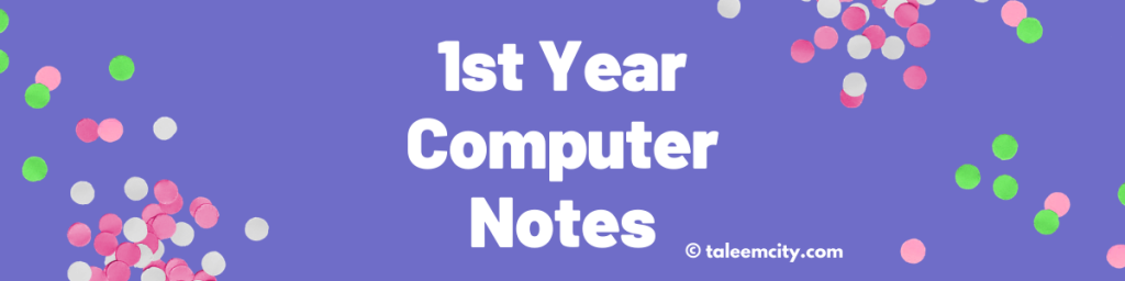 1st Year Computer Science Notes